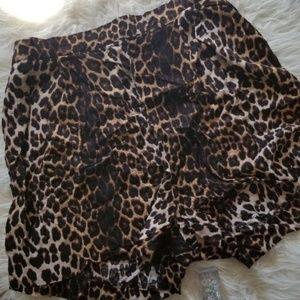 H & M Leopard Print Shorts
